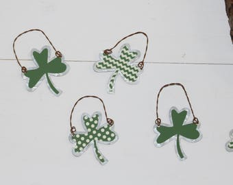 Irish Shamrocks-St. Patrick's Day Tin Ornaments