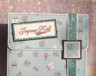 Christmas - Gift card, cheque, ticket - shaped gift pouch