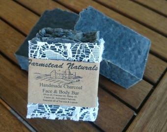 Detox Charcoal Soap, Handmade Soap, Natural Soap, Activated Charcoal Soap, Luxurious Bath, Lace Soap, blemish soap, acne, black