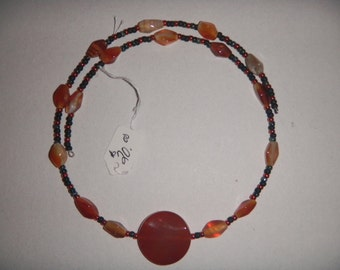 Memory wire autumn colors necklace