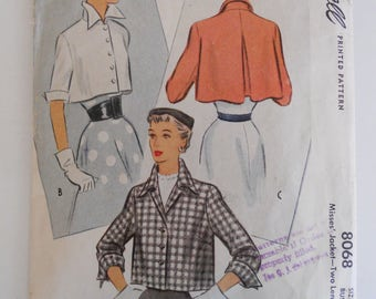 McCall Misses' Jacket Pattern 8068 Size 14