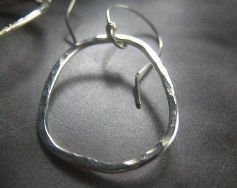 Disheveled Hoop Earrings sterling silver dangle