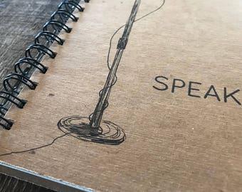 Speak | Spiral Notebook | Reclaimed Paper | Journal