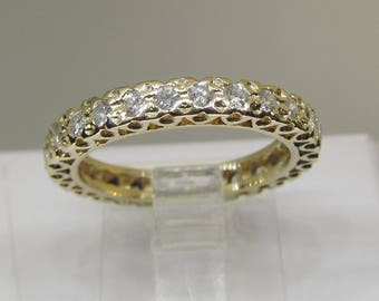 Diamond Eternity Band 14Kt Yellow Gold