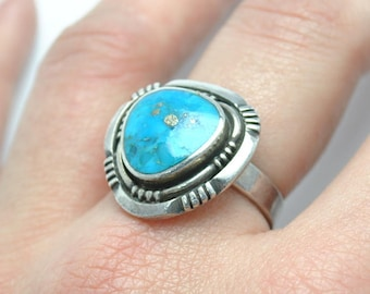 Turquoise vintage ring sterling silver, vintage turquoise ring, vintage rings, turquoise rings navajo rings, native american ring