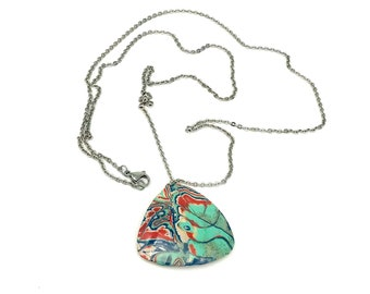 Polymer Clay Pendant - Unique Handmade Pendant- Necklace