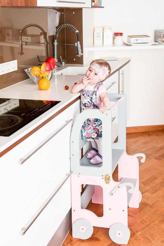Little princess kitchen tower/ step stool for children/ table and chair/montessori stool