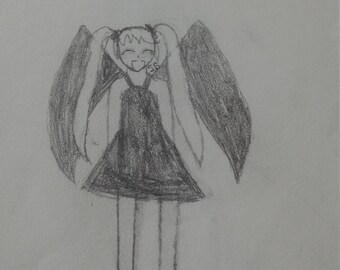 Original Art: Winged Girl