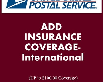 ADD INSURANCE - International Only.