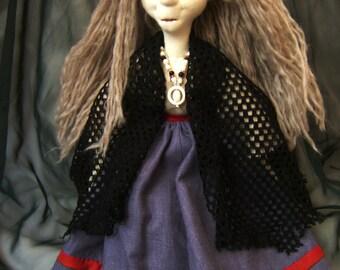 Baba Yaga, a soft-sculpture doll