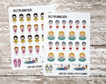 Swimmer Stickers