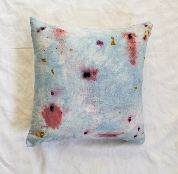 Indigo Dyed  Cushion Cover / Indigo Blue Dyed Pillow /Bundle Dyed / Decorative Pillow / Hand dyed / Housewarming gift / Natural Color