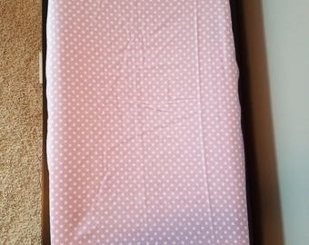 Changing Pad Cover Soft Flannel Purple Lavender White Polka Dot Girl Nursery