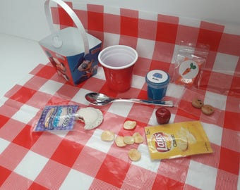 Picnic Lunch Set - 18 Inch Doll Lunch Set for American Girl Sized Doll or Stuffed Animals