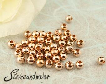 25x beads 4mm Small Rosegold Verg. Art. 4302