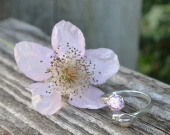 Pink  blossom ring (adjustable between M - P)