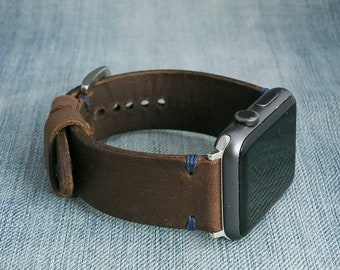 Brown Apple watch leather band 42mm, apple watch leather strap, apple watch 42 leather strap , brown apple watch strap, brown watch band