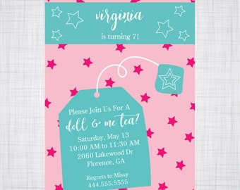 Doll and Me Tea.  American Girl Tea Party.  Tea Party.
