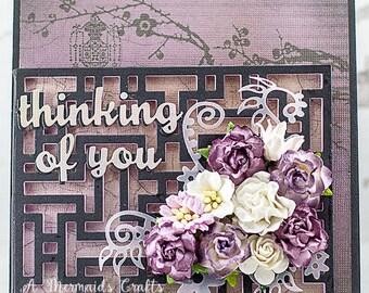 Oriental Hidden Garden Thinking of You card