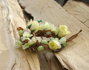 Easter wreath, Easter decoration, Easter decor, flower wreath, spring wreath, rustic wreath