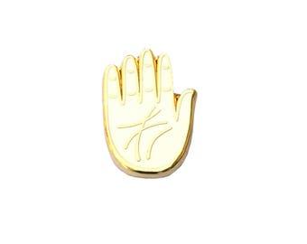 Palm Pin - White