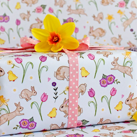 Spring gift wrap 2 pack gift wrapping paper easter gift negle Gallery