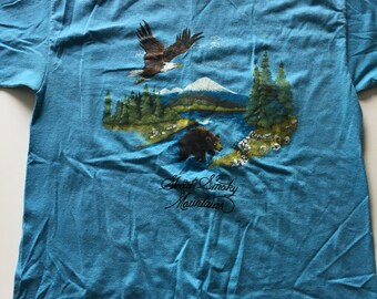Awesome Vintage 1988 Great Smoky Mountains T Shirt