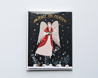 Peace on Earth Angels Cards - Pack of 4