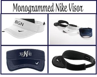Monogrammed Visor, Personalized Nike Visor, Monogrammed Nike Visor, Personalized Visor,Nike Visor, Custom Visor, Groomsmen Gifts - NV01