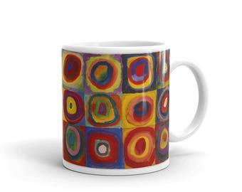 Coffee Mug with art print - Kandinsky's Concentric Circles