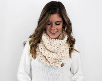 Scarf Chunky Knitted Cowl Fisherman- Calvert Cowl