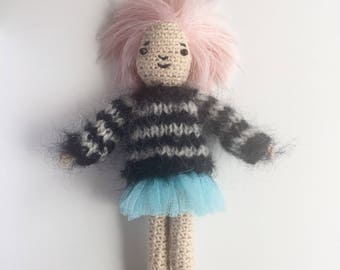 Amigurumi crochet girl doll