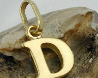 Letter D, pendant, 9K GOLD
