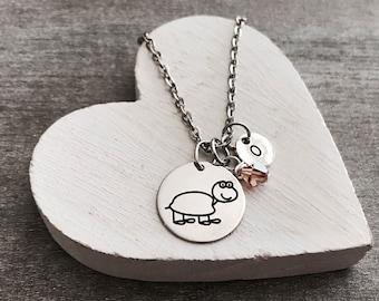 Taylor the tortoise, tortoise, tortoise Necklace, tortoise Jewelry, Silver tortoise, Gift, Silver Necklace, Charm Necklace, Silver Jewelry