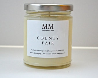 COUNTY FAIR // natural soy candle // hand-poured // small batch