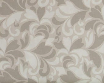 Gray, Tan and Soft White Feather Swirls 100% Cotton Quilt Blender Fabric, Flint Collection from Red Rooster Fabrics, RER468626486-GRY1