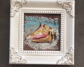 Mini painting, beach shell