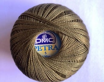 DMC Petra No. 5 - ball 100gr reference 5936 khaki Green