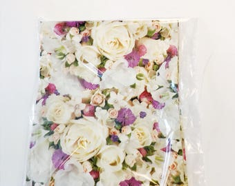Floral gift wrap etsy roses flower bouquet gift wrap tender thoughts all occasion paper floral wrapping paper wedding mothers day mightylinksfo