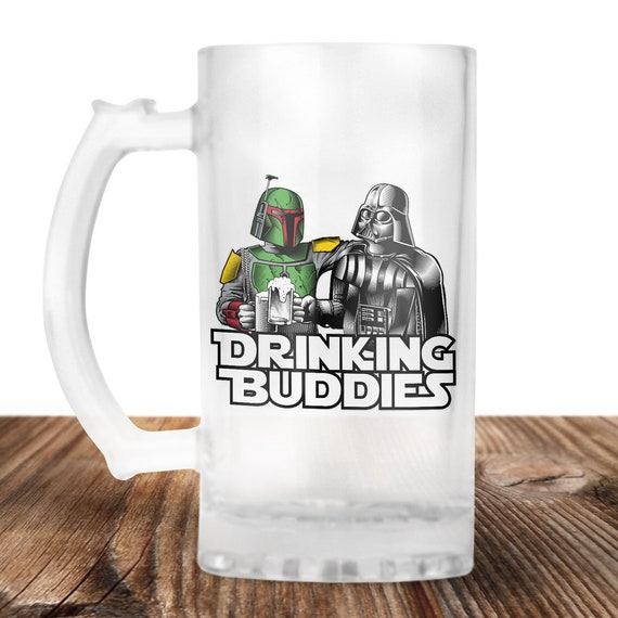 Darth Vader and Boba Fett Beer Stein- Star Wars Mug