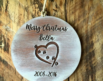 Dog Ornament, Christmas Ornament, Pet Ornament, Pet Memorial , Christmas, Dog Memorial, Memoral Ornament, Pet Memorial Gift, Tree Ornament