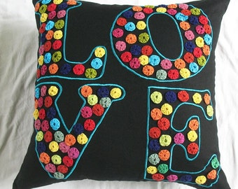 Love is in the air  - love pillow - 22X22 in