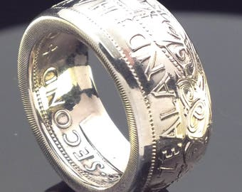 New Zealand Half Crown Coin Ring (1933-1947 & 1947-1966)