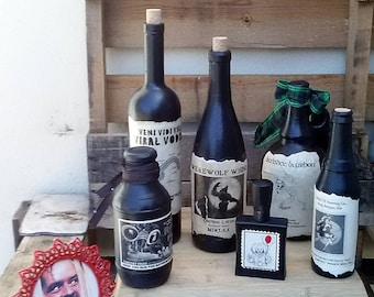 Halloween Apothecary Bottles: Mixed Set