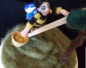 Devotion Art Doll polymer and needle felted made February 2018
