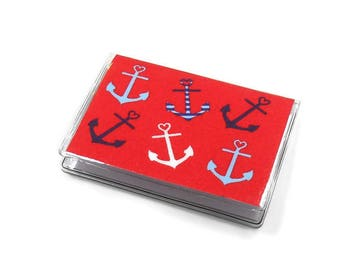 Card Case Mini Wallet Anchor Hearts