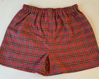 Men's Flannel Boxer Shorts
