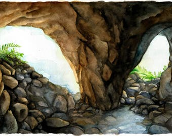 """A4 print of """"Baltzolan"""" - """"In the cave"""""""