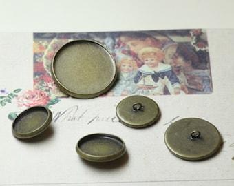 30 Button with 12-20mm Antique Bronze Bezel Cup C05989