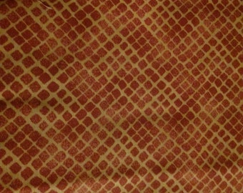 Connecting Threads Sedona Snake Skin Pattern in Rust Fabric by the yard